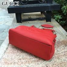 GUCCI 387043-3 人氣熱銷單品紅色原版皮小號單肩斜挎包